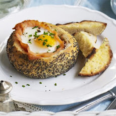 Baked Salmon & Eggs