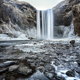 Skógafoss by CK Lam - Landscapes Waterscapes ( south iceland, iceland, waterfall, long exposure, skógafoss )
