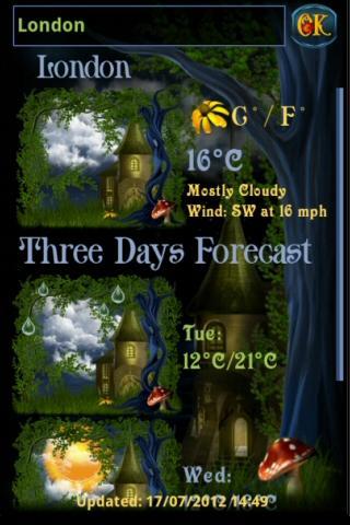 妖精の村の天気