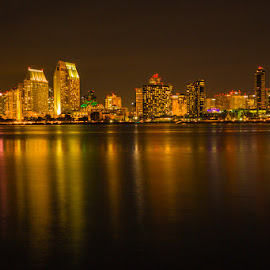 San Diego, CA by Richard Duerksen - City,  Street & Park  Night ( san diego, california, 50 years )