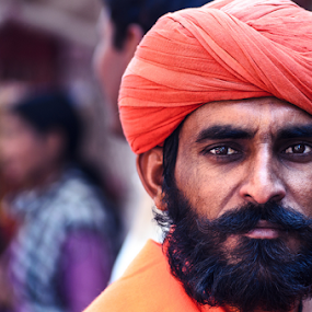 The Geru Turban by Adityendra Solanki - People Street & Candids ( life, tourism india, pushkar, baba, adityendra solanki photography, rajasthan, india, adityendra, tourism rajasthan )