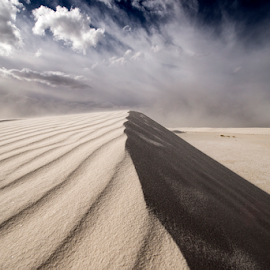 Sand Storm  by Michael Keel - Landscapes Deserts ( desert storm, sand storm, white sands national monument, new mexico )
