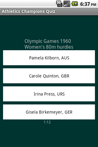 Athletics Champions Quiz
