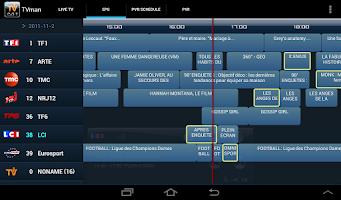Screenshot of TVman DVB-T Player for Tablet