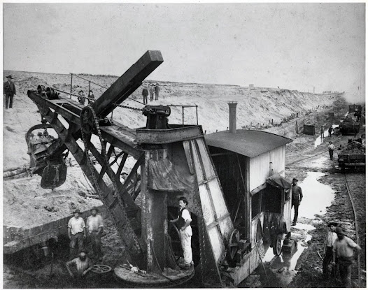 Construction of Coode Channel, c. 1880