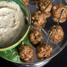 Lamb Meatballs with Lemon-Cumin Yogurt