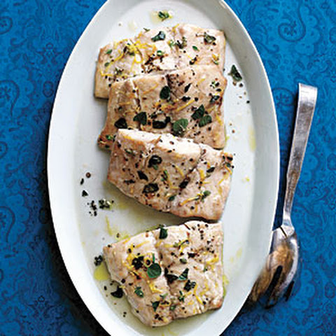 Herb and Lemon Roasted Striped Bass
