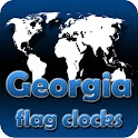 Georgia flag clocks icon