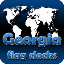 Georgia flag clocks