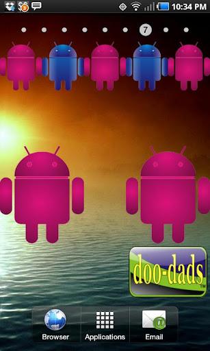 Droid pink glow doo-dad