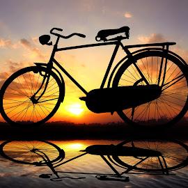 pit jowo lanang by Indra Prihantoro - Digital Art Things ( sunset, sunrise, bicycle )