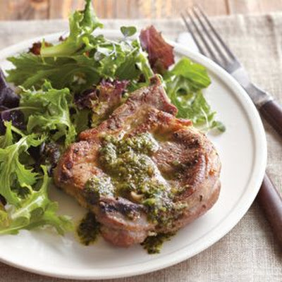 Lamb Chops with Mint Salsa Verde