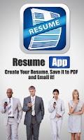 Screenshot of Resume App Pro