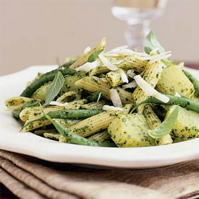 Pesto Penne with Green Beans and Potatoes