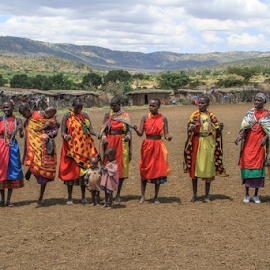 Masai Family by Wim Moons - People Group/Corporate