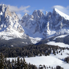 WINTER DOLOMITES (VAL GARDENA) by Riccardo Schiavo - Landscapes Mountains & Hills (  )