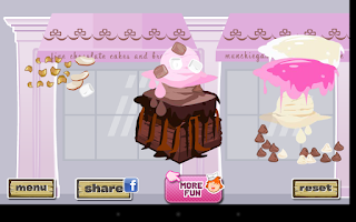 Screenshot of Fudge Brownie Dressup Game