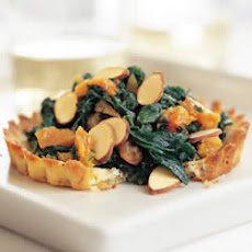 Spinach and Apricot-Filled Almond Tarts