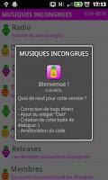 Screenshot of Musiques-Incongrues