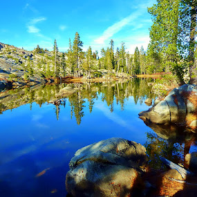 Loc Levin in the Sierras by Samantha Linn - Landscapes Waterscapes