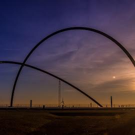 Horizon Observatory - Sunpath by Oguz Cakirci - Buildings & Architecture Statues & Monuments ( sunpath, blue hour, sunset, horizon, observatory, golden hour,  )