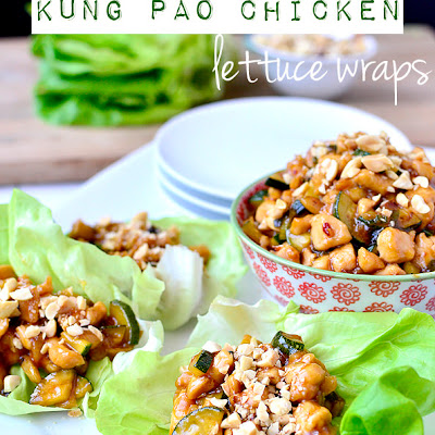 Kung Pao Chicken Lettuce Wraps