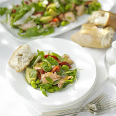 Roasted Salmon, Pepper & Broad Bean Salad