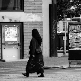 pedestrian by Renato Dibelčar - City,  Street & Park  Street Scenes ( pedestrian, woman, street, outdoor, women, people, city )