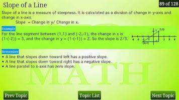 Screenshot of GED Math Review