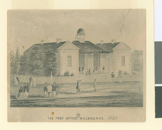 Melbourne Post Office, 1841.
