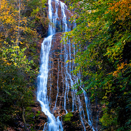 Fall Waterfall by Patrick Flood - Landscapes Mountains & Hills ( canon, photosbyflood, national park, fall, waterfall, tennessee, smoky mountains, north carolina )