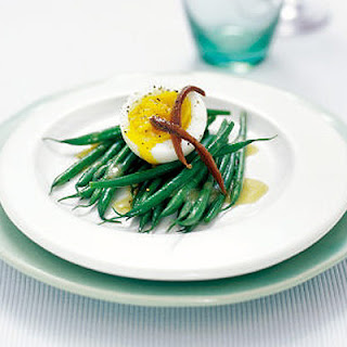 Green Beans With Anchovy & Soft Egg