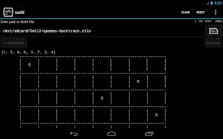 Screenshot of setlX