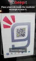 Screenshot of QR Code Reader - goBeepit