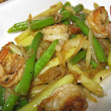 Sauteed Shrimp With Long Beans