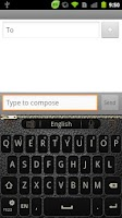 Screenshot of GO Keyboard BlackLeather theme