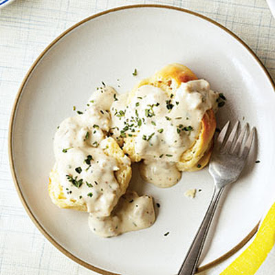 Buttermilk Biscuits with Country Sausage Gravy