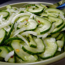 John's Cucumber Sweet Onion Salad With Lime Pepper Dressing