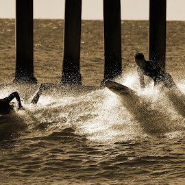Surfer Buddies by Jose Matutina - Sports & Fitness Surfing ( water, friends, surfer, sea, ocean, buddies,  )