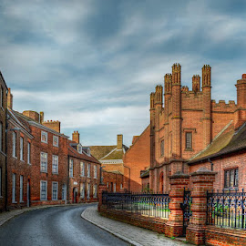by Heather Ryder - Buildings & Architecture Other Exteriors ( uk, street, kings lynn, buildings, bricks, town, chimneys,  )