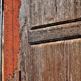Finally the termites have managed to get in.. by Anoop Namboothiri - Artistic Objects Antiques ( old, wooden, texture, termites, anoop namboothiri, door, architecture, bungalow, antique, heritage, abandoned )