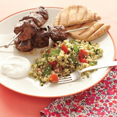 Tabbouleh and Lamb Kebabs
