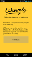 Screenshot of Warmly — An alarm clock