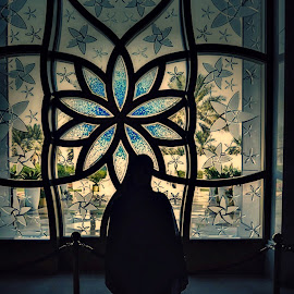 Mariam by Bryx Kleiner - Artistic Objects Glass ( interior, mosque, glass, lady, design,  )