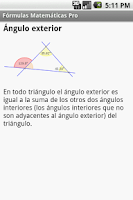Screenshot of Fórmulas Matemáticas Pro