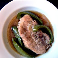 Green Pepper Pork Chops