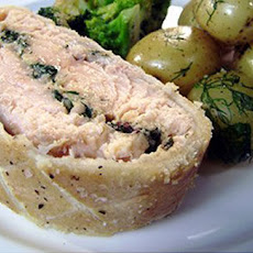 Salmon En Croute With Herbed New Potatoes And Broccoli
