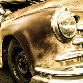 Old girl by Petra Bensted - Transportation Automobiles ( car, old, vintage, gold coast, cooly rocks )