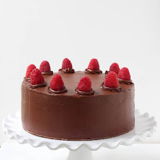 Double Chocolate Cake with Raspberry Buttercream Filling
