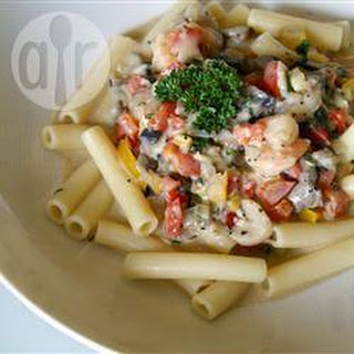 Pasta Met Garnalen In Pittige Roomsaus